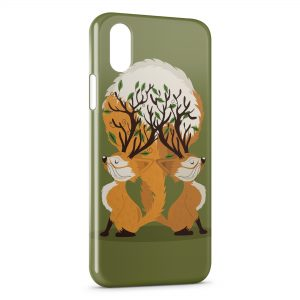 Coque iPhone X & XS Cute Fox Renards