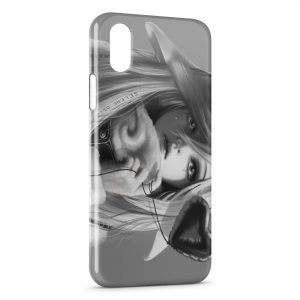Coque iPhone X & XS Cute Girl Manga 2