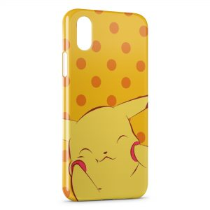 Coque iPhone X & XS Cute Pikachu Pokemon Yellow