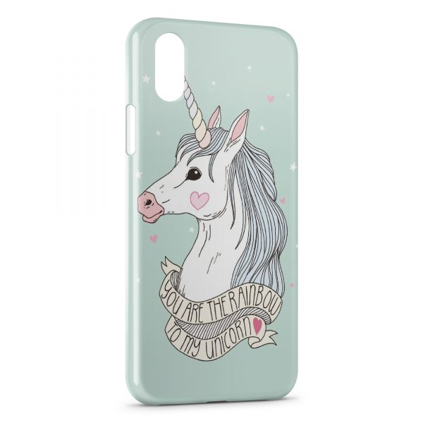 Coque iPhone X & XS Cute Unicorn Licorne 2