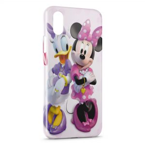 Coque iPhone X & XS Daisy & Minnie Cartoons