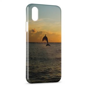 Coque iPhone X & XS Dauphin Ocean 4