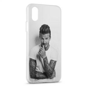 Coque iPhone X & XS David Beckham 3