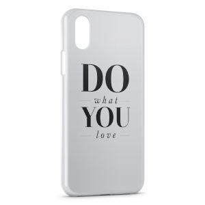 Coque iPhone X & XS Do What You Love