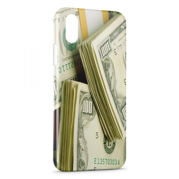 Coque iPhone X & XS Dollars Money