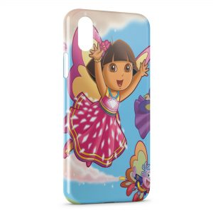 Coque iPhone X & XS Dora l'exploratrice Fée Rose