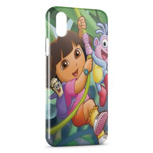 Coque iPhone X & XS Dora l'exploratrice Jungle