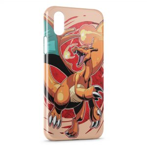 Coque iPhone X & XS Dracaufeu Pokemon 4 Style