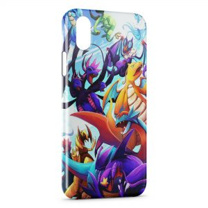 Coque iPhone X & XS Dracolosse Dracaufeu Pokemon Graphic