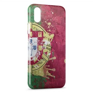 Coque iPhone X & XS Drapeau Portugal Art