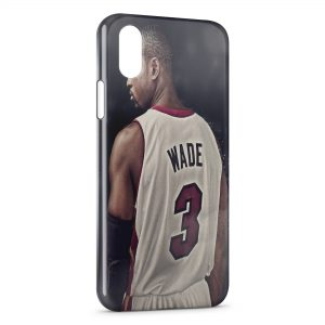 Coque iPhone X & XS Dwyane Wade Miami Basketball