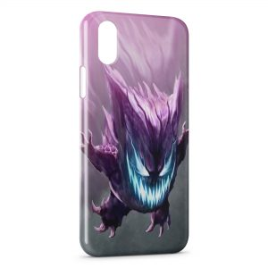 Coque iPhone X & XS Ectoplasma Pokemon Design Graphic