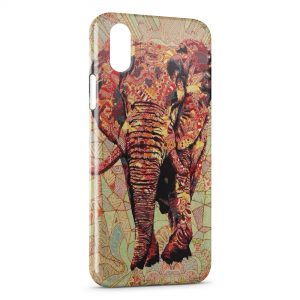 Coque iPhone X & XS Elephant Design Style 3