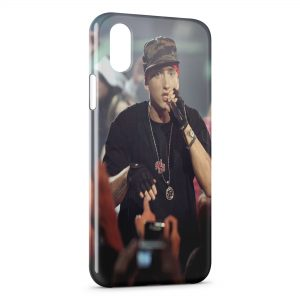 Coque iPhone X & XS Eminem Concert