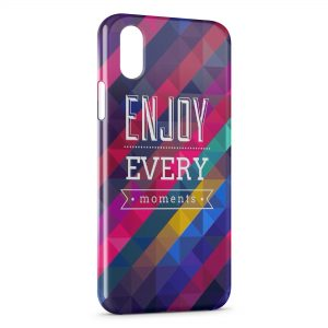 Coque iPhone X & XS Enjoy Every Moments