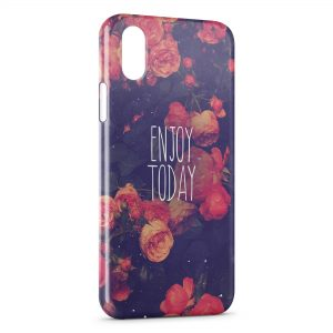 Coque iPhone X & XS Enjoy Today Flowers