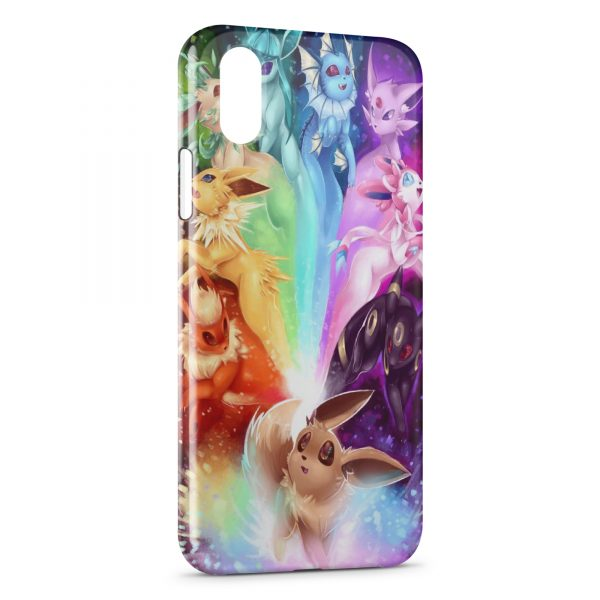Coque iPhone X & XS Evoli Evolutions Pokemon Art Colored