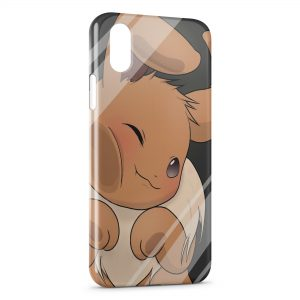 Coque iPhone X & XS Evoli Pokemon Vitre Glace
