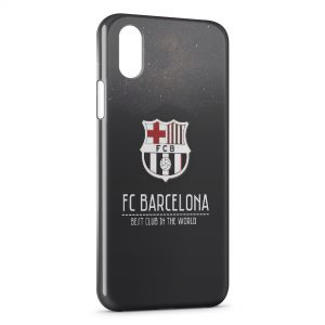 Coque iPhone X & XS FC Barcelone 6