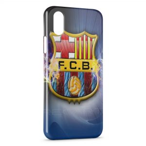 Coque iPhone X & XS FC Barcelone FCB Football 12