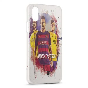 Coque iPhone X & XS FC Barcelone FCB Football 13 Art