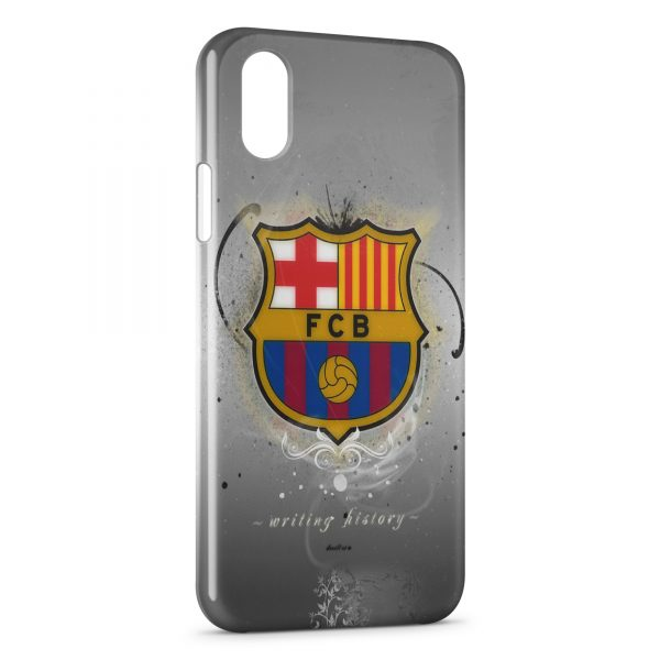 Coque iPhone X & XS FC Barcelone FCB Football 15