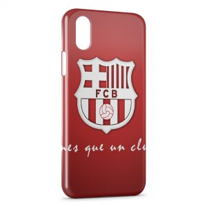 Coque iPhone X & XS FC Barcelone FCB Football 17