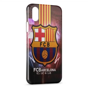 Coque iPhone X & XS FC Barcelone FCB Football 20