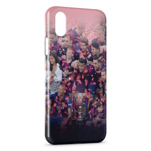 Coque iPhone X & XS FC Barcelone FCB Football 21