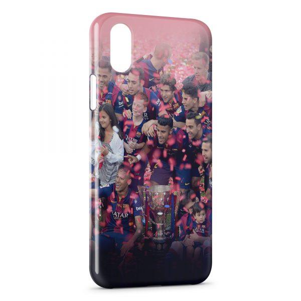 Coque iPhone X & XS FC Barcelone FCB Football 21