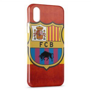 Coque iPhone X & XS FC Barcelone FCB Football 25