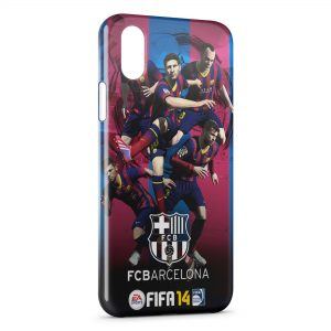 Coque iPhone X & XS FC Barcelone FCB Football 27