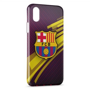 Coque iPhone X & XS FC Barcelone FCB Football 28
