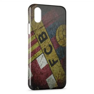 Coque iPhone X & XS FC Barcelone FCB Football 39