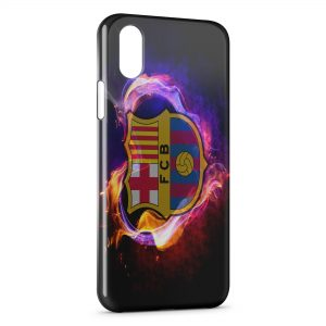 Coque iPhone X & XS FC Barcelone FCB Football 43