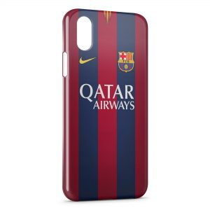 Coque iPhone X & XS FC Barcelone FCB Qatar Airways Football 14