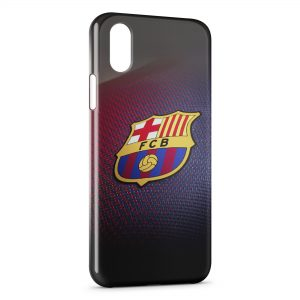 Coque iPhone X & XS FC Barcelone Football 2