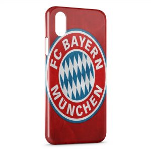 Coque iPhone X & XS FC Bayern de Munich Football Red 12