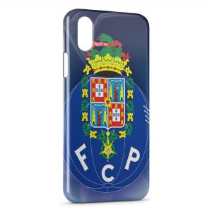 Coque iPhone X & XS FC Porto Logo Design 4