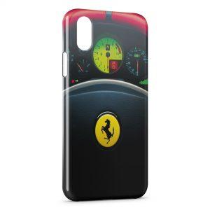 Coque iPhone X & XS Ferrari Volant Voiture