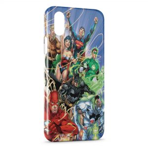 Coque iPhone X & XS Flash Batman Superman Green Lantern