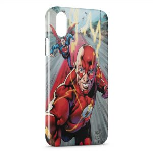 Coque iPhone X & XS Flash & Superman 4
