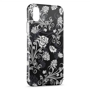 Coque iPhone X & XS Fleurs Black & White Design