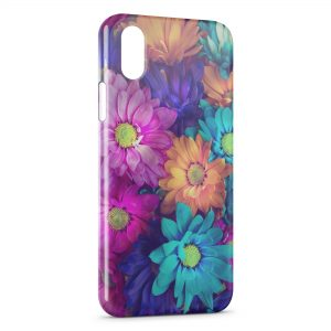 Coque iPhone X & XS Fleurs Colors 11