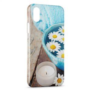 Coque iPhone X & XS Fleurs Marguerites