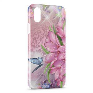 Coque iPhone X & XS Fleurs et Papillons