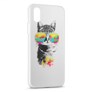 Coque iPhone X & XS Florida Cat