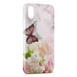 Coque iPhone X & XS Flowers & Butterflies 2