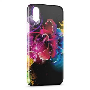 Coque iPhone X & XS Flowers Fleurs Multicolor