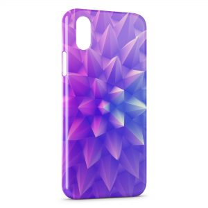 Coque iPhone X & XS Forme Violette Design 3D